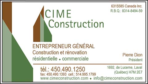 CIME CONSTRUCTION INC