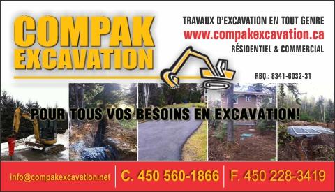 Carte d'affaire de COMPAK EXCAVATION