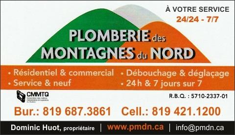 PLOMBERIE DES MONTAGNES DU NORD 9328-3448 QUÉBEC INC