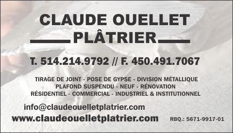 CLAUDE OUELLET PLÂTRIER