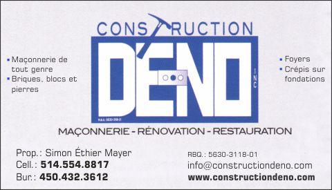 CONSTRUCTION DÉ-NO INC