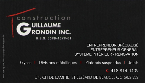CONSTRUCTION GUILLAUME GRONDIN INC