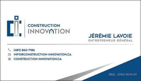 CONSTRUCTION INNOVATION ÉCO-CONCEPT INC
