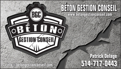 Carte d'affaire de BÉTON GESTION CONSEIL